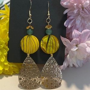 Handmade cute Yellow earrings
